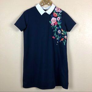 Zara Trafaluc • Embroidered Dress with Collar